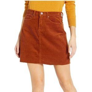 Blank NYC Corduroy Skirt In Clockwork Copper